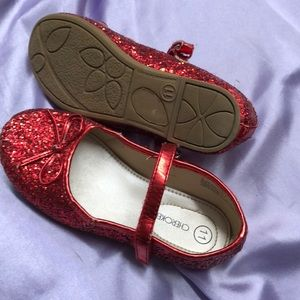 Dorothy red slippers sz 11 girls preloved low